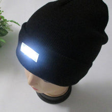Load image into Gallery viewer, 5 LED Light Hat Warm Winter Beanies Gorro Fishing Angling Camping Black Caps Knitting Woolen Hat