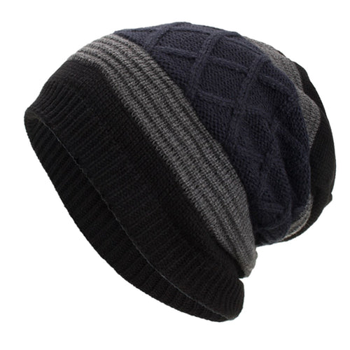 Women Men Hat Warm Baggy Weave Crochet Winter Wool Knit Beanie Daily Caps Hat Free Shipping #YL5
