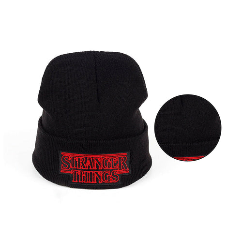 new Men Women Teenagers Warm Beanie Winter Hat Dustin Stranger Things Dustin Black Knit Beanie Knitted Cap Skullies For Youth