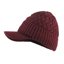 Load image into Gallery viewer, men's hat autumn and winter Warm new fashion Comfortable hat Winter Mens Hat and Scarf Warm Knit Cap and Scarf Outdoor visor