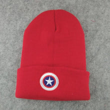 Load image into Gallery viewer, 2019 New Captain America Children Beanies Winter Hat For Kids Touca Knitted Cap Boys Girls Bonnet Enfant Baby Hero Hats 50cm