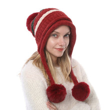Load image into Gallery viewer, Hot Fashion Women's Hat Winter Fur Pom Pom Knit Beanie Ski Cap Bobble Cute Beanies 6 Colors