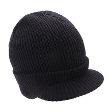 Load image into Gallery viewer, Women Men Knitted Hat Army Style Thick Strips Wool Beanies Cap Autumn Winter Warm Visors Unisex Skiing Skullies Hats Bonnet