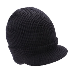Women Men Knitted Hat Army Style Thick Strips Wool Beanies Cap Autumn Winter Warm Visors Unisex Skiing Skullies Hats Bonnet