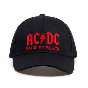 2017 New AC/DC band baseball cap rock hip hop cap Mens acdc snapback hat Embroidery Letter Casual DJ ROCK dad hat
