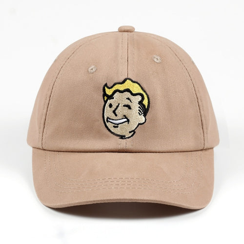 100% Cotton Pip boy Fallout 4 Baseball Cap Fallout Shelter Dad Hat Pip-Boy Embroidery Snapback Game Lovers Women Men Casquette