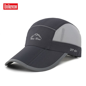 Quick dry summer baseball caps Foldable hat for men women casual anti - ultraviolet hat