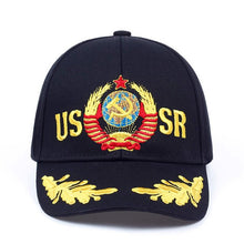 Load image into Gallery viewer, New Unisex Cotton Outdoor Baseball Cap Russian Emblem Embroidery Snapback Fashion Sports Hats For Men & Women Patriot golf Caps