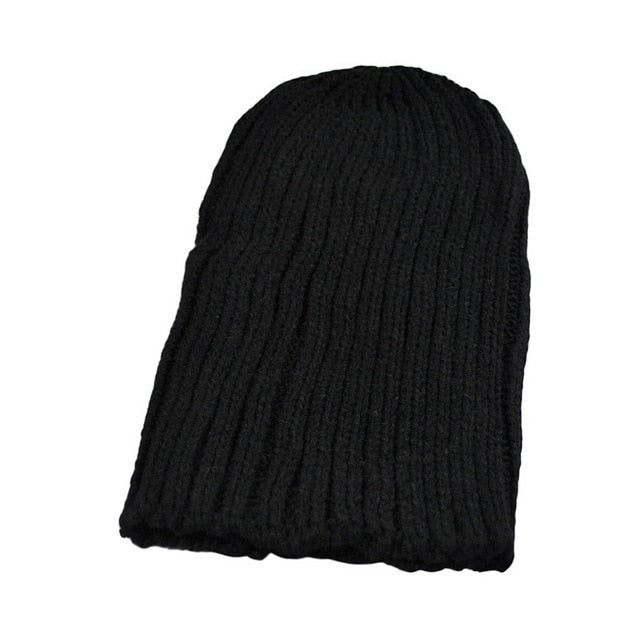 Hot Sale Winter Casual Hip Hop Beanies Men Knitted Bonnet Hats For Men\'sCrochet Warm Cap