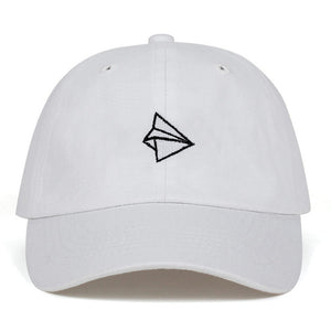 Paper plane Embroidery Baseball Cap Men Women Summer Adjustable cotton lovely Dad Hat Hip-hop Snapback Cap Hats Bone Garros