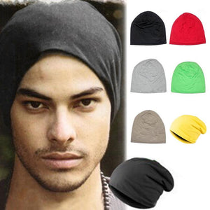 2018 Unisex Knitted Hat Men Women Solid Color Winter Spring Summer Autumn Knitted Hat Casual None-eaves Hip-Hop Cap