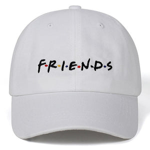 High Quality Men Women FRIENDS Dad Hat Baseball Cap cotton Style Unconstructed Fashion Unisex Dad cap hats Bone Garros