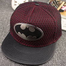 Load image into Gallery viewer, 2018 Geometric batman metal cotton acrylic Casquette Baseball Cap Adjustable Snapback Hats for men and women