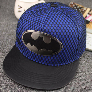 2018 Geometric batman metal cotton acrylic Casquette Baseball Cap Adjustable Snapback Hats for men and women