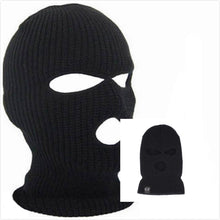 Load image into Gallery viewer, Full Face Cover 3 Holes Balaclava Knit Hat Winter Stretch Snow Mask Beanie Hat Cap Windproof Warm Breathable Masks for Riding