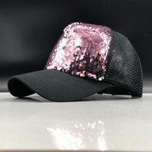 Load image into Gallery viewer, 2019 New Summer Parent-child Baseball Caps Adjustable Sequins girls Mesh Cap boy sun Hats women Snapback 50-54-58-60cm