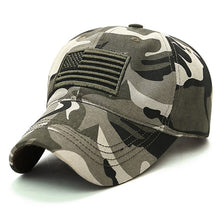 Load image into Gallery viewer, New Men USA Flag Camouflage Baseball Cap Army Embroidery Cotton Tactical Snapback Dad Hat Male Summer Sports America Trucker Cap