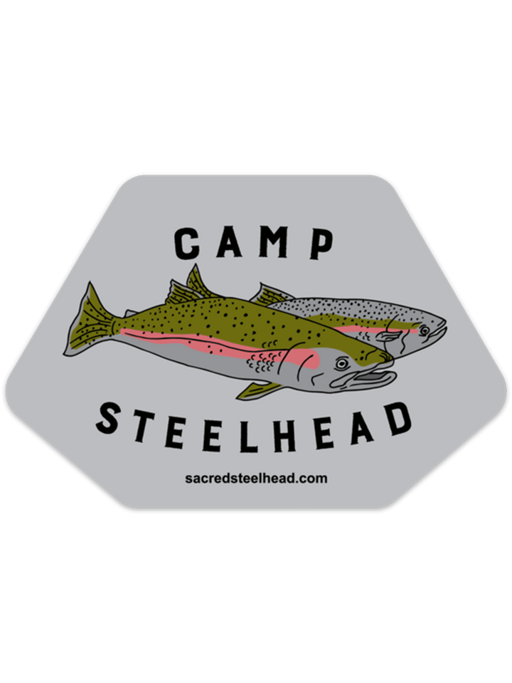 Camp Steelhead Sticker - SacredSteelhead.com