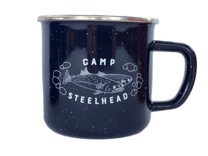 steelhead camp mug in blue