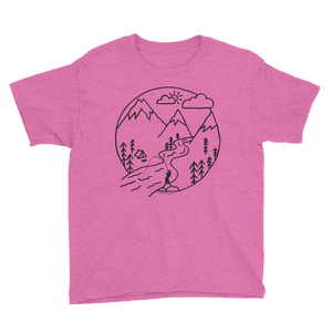 Camp Steelhead Getaway Kid's T-Shirt - SacredSteelhead.com