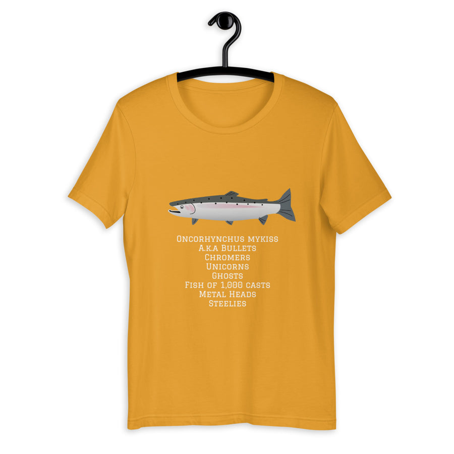 The many names of Steelhead T-Shirt - SacredSteelhead.com
