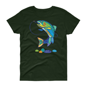 Jumping Steelhead Women's short sleeve t-shirt - SacredSteelhead.com