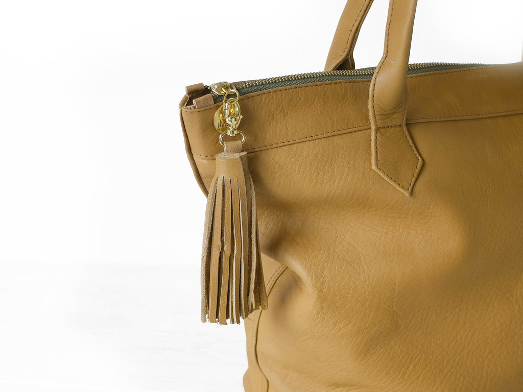 Charlotte | Tan - Vive Ninette | One of a kind leather handbags