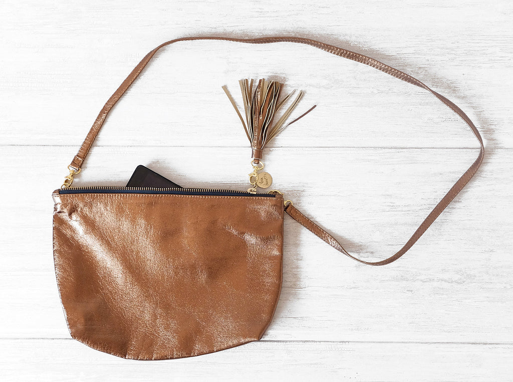 Isabelle | Bronze - Vive Ninette | One of a kind leather handbags