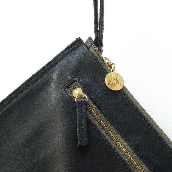 The Petites Flat - Vive Ninette | One of a kind leather handbags
