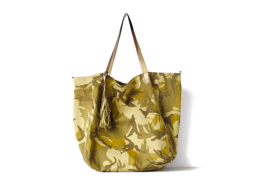 Le Sac | Camouflage - Vive Ninette | One of a kind leather handbags