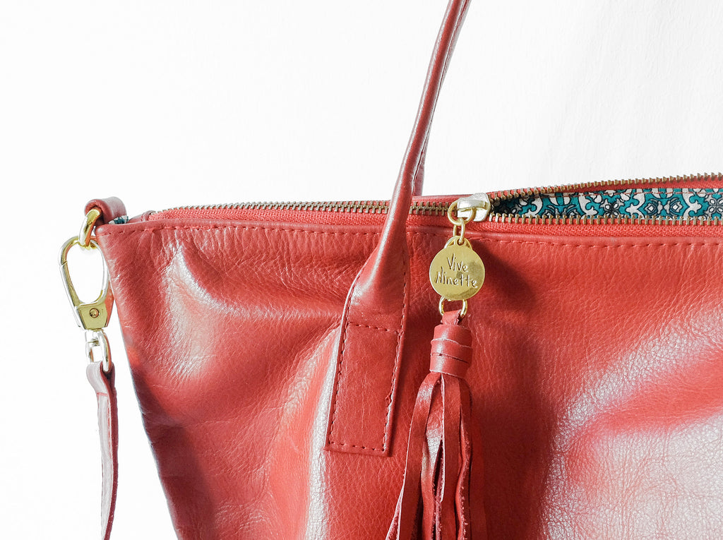 Mimí | Red - Vive Ninette | One of a kind leather handbags