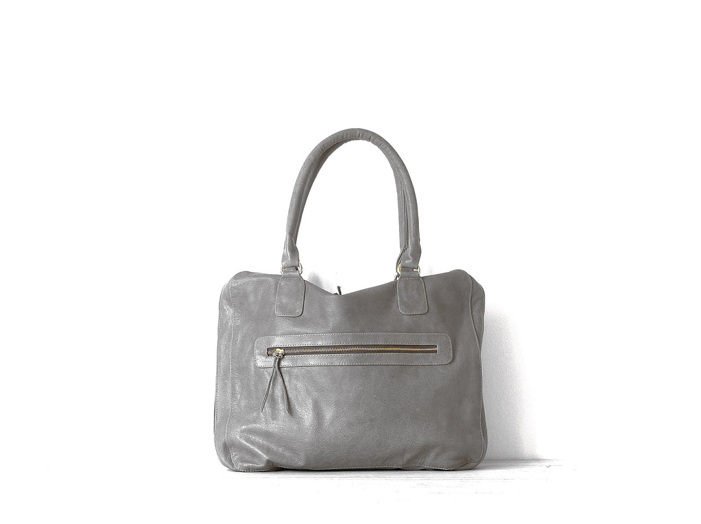 Ninette Petite | Tortora grey - Vive Ninette | One of a kind leather handbags
