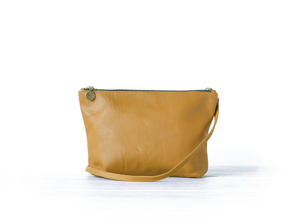Clutch petite | Tan - Vive Ninette | One of a kind leather handbags