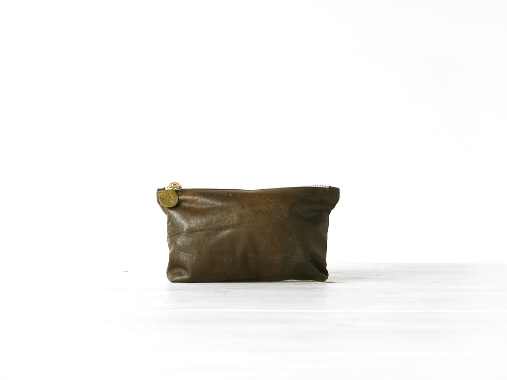 Wallet | Brown antique - Vive Ninette | One of a kind leather handbags