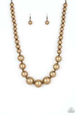 Living Up To Reputation - brass - Paparazzi necklace   #144