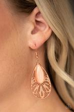 Glowing Tranquility - copper - Paparazzi earrings v #152