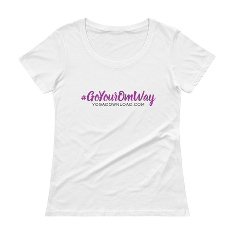 Ladies' Scoopneck T-Shirt - #GoYourOmWay