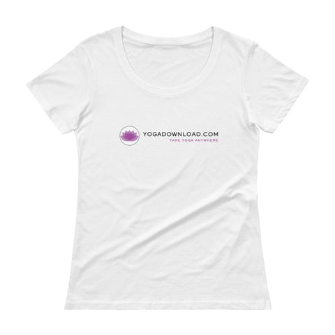 Ladies' Scoopneck T-Shirt - light grey and white options