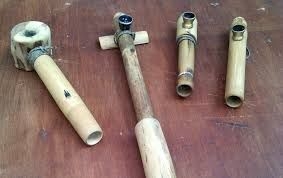 pipe made from bamboo