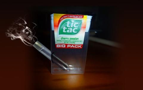 smoking pipe made form tic tac box