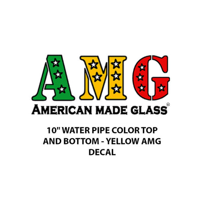 "10"" Yellow Decal Water Pipe - AMG"