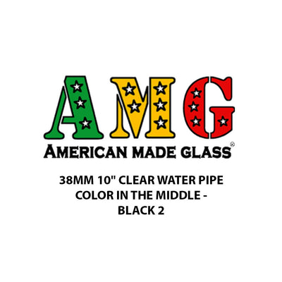 "38mm 10"" Color in the Middle Clear Water Pipe - AMG"