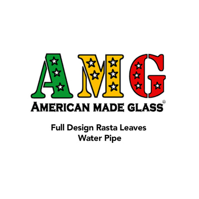 Full Design Rasta Leaves Water Pipe - AMG