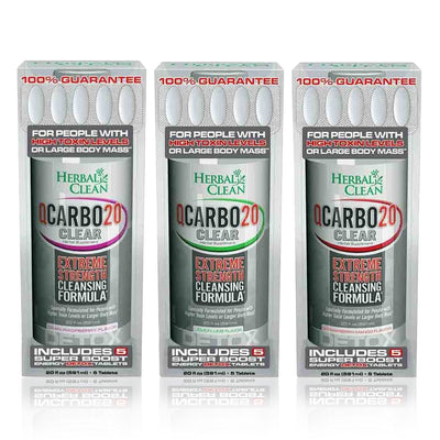 QCarbo 20 Clear Extreme Strength Cleansing Detox Formula - Herbal Clean