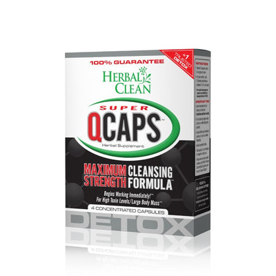 Super QCaps Maximum Strength Cleansing Detox - Herbal Clean