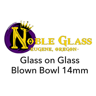 Glass On Glass 14mm Bowl - Noble Glass