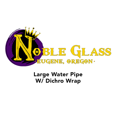 Large Water Pipe With Dichro Wrap by Noble Glass