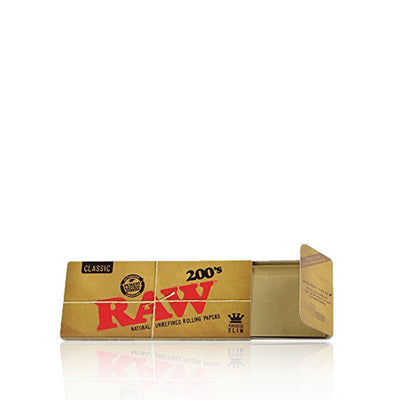 RAW 200's Rolling Papers King Size Slim Single Pack - RAW