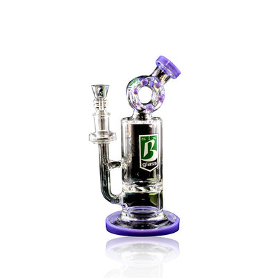 Stemless GoG Water Pipe With Vortex Disk Perc - 6B Glass