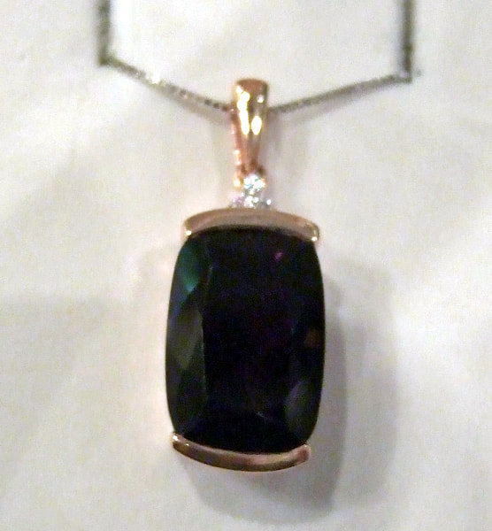 Smokey Quartz and Diamond Pendant